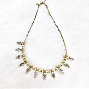 J. Crew Gold Jewel Statement Necklace